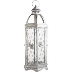 With its hand-painted, rust-resistant finish, hexagonal shape and acrylic gems on each side, our lantern shines beautifully indoors and out. Exclusively Pier 1 Imports.