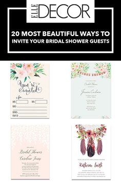 A quick look at modern and charming ways to impress guests with beautiful invitations.