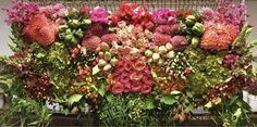Mayesh Flower Pull ::: A Bright and Bold Palette of Coral, Orange, Peach, Red, and Hot Pink :::  Foxglove, kalanchoe, poppies, blackberries, godetia, pepperberry, polygonum, with other wild and crazy blossoms!  :: JULY ::