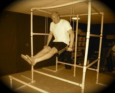 Learn how to build a bodyweight gym out of PVC pipe, along with a 3-month fitness plan for it.