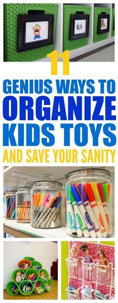 Organize kids toys & art supplies