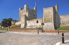 Rochester Castle, Rochester, Kent by Christine Matthews - near to Rochester, Medway, Great Britain