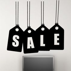 SALE SIGN wall sticker window decoration show art shop stickers decal design Wall Sticker for businesses