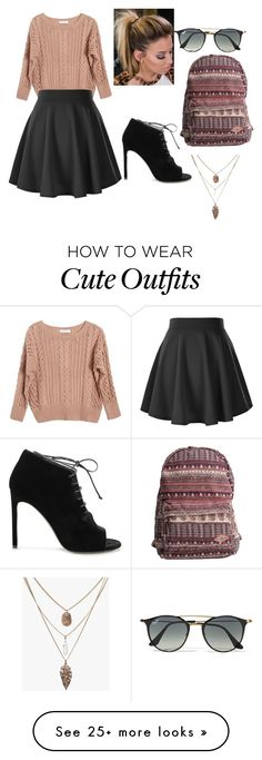 """""""Bestie outfit"""" by theperfectchild on Polyvore featuring Ryan Roche, Yves Saint Laurent, Billabong and Ray-Ban"""