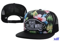 Student gorras vans off the wall flores-009