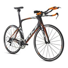 Bicicleta de triatlón Fuji Norcom Straight 2.3 negro mate carbono en #deporvillage #fuji #bikes #triathlon #cycling