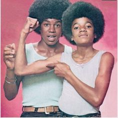 Michael & Jermaine Jackson: Wanta Feel Our Muscles? The Jackson Five, Jackson Family, Janet Jackson, Jermaine Jackson, Paris Jackson, Afro, Gta San Andreas, Indiana, The Jacksons
