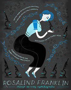 Women in Science: Rosalind Franklin por Rachelignotofsky en Etsy