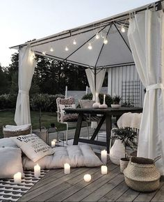 Bring Life to Your Outdoor Space so peaceful. Love all the grey tones.so peaceful. Love all the grey tones. Backyard Canopy, Canopy Outdoor, Outdoor Decor, Romantic Backyard, Gazebo Tent, Window Canopy, Canopy Curtains, Garden Canopy, Fabric Canopy