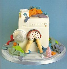 What's in the washing machine?  Truly admire the workmanship, but have to wonder ... who orders a cake like this?