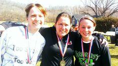 Top 3 Women - Lung Bustin' Justin Trail Race April 27, 2013 at Justin Trails Resort Sparta Wisconsin www.justintrails.com