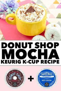 5 Super Sweet Keurig Recipes for Mother's Day Donut Shop Mocha Keurig K-Cup Recipe Keurig Recipes, Coffe Recipes, Drink Recipes, Dessert Recipes, Apple Smoothies, Strawberry Smoothie, Mocha Recipe, Latte Recipe, Smoothie Prep