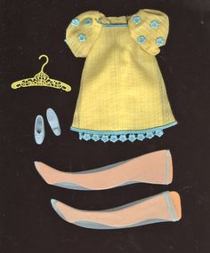 Vintage Francie Yellow - loved this, the stockings were a pain to get on, though.