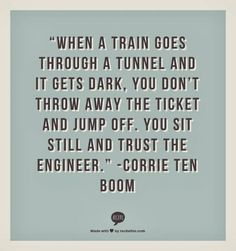 This is my most pinned pin and one of my all time favorite quotes by one of my all time favorite and inspirational people. #CorrieTenBoom Quotable Quotes, Quotes Quotes, Great Quotes, Life Quotes, Open Quotes, Godly Quotes, Famous Motivational Quotes, Famous Sayings, It Will Get Better