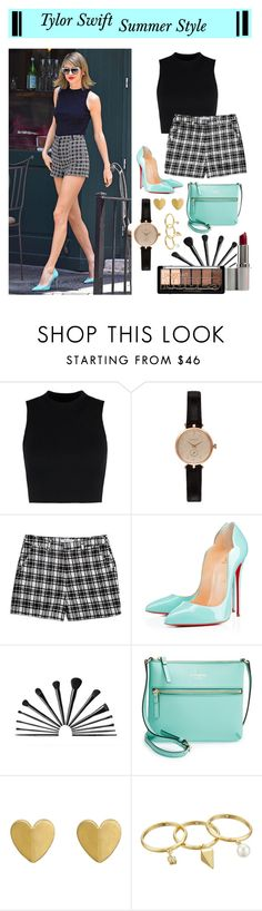 Taylor summer Style by lunalobina on Polyvore featuring Lucy Paris, Wood Wood, Kate Spade, Christian Louboutin, Barbour, Rebecca Minkoff, men's fashion and menswear