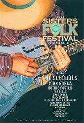 Art and Music: Award-winning illustrations, graphic design, and songwriting out of Sisters, Oregon. Cd Design, Graphic Design, Folk Festival, Festival Posters, Over The Years, The Fosters, Sisters, Music, Guitar
