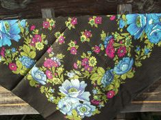SALE 20% off  Floral Soviet shawl vintage от RussianshawlMayya