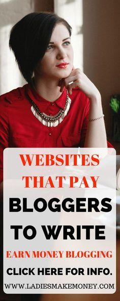 Companies And Websites That Pay For Your Writing - Make for Money Blogging - Passive Income - Affiliates - Content - Social Media - Management - SEO - Promote | Freelance blogger, get paid to write. How to make money as a freelance blogger. Here are 5 pla
