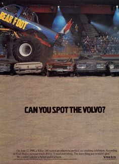 Can you spot the volvo?