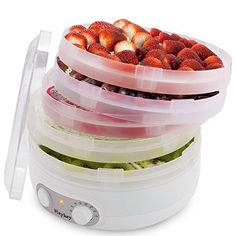 Food Dehydrator Machine jerky with Five Tray, BPA Free/White Dehydrator Recipes, Street Food, A Food, Raspberry, Tray, Fruit, Kitchen Gadgets, Raspberries, Board