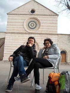 Elena und Giuseppe in Assisi