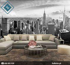 #Fototapety z miejskim motywem idealnie pasują do #nowoczesnego #wystroju. Nie ulega wątpliwości, że potrafią także odmienić i ożywić tradycyjne #wnętrza ! 👌 Couch, Furniture, Home Decor, Settee, Decoration Home, Sofa, Room Decor, Home Furnishings, Sofas