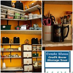 Condo Blues: Craft Supply Wall Storage and Room Tour