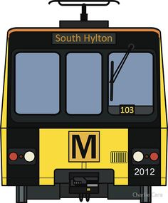 'Tyne and Wear Metro Sticker by Charlie Care Train Drawing, Newcastle, My Design, England, Stickers, Art, The Creation, Art Background, Kunst