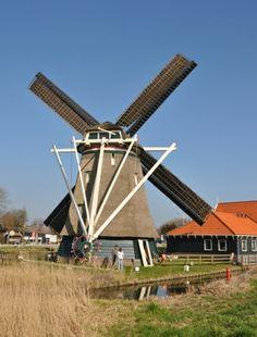 Flour mill De Otter, Oterleek, the Netherlands.
