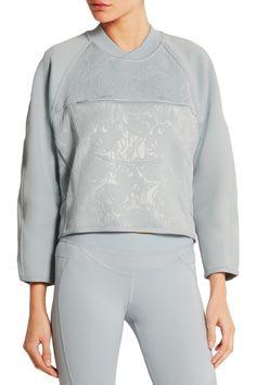 Adidas by Stella McCartneyEmbossed stretch-scuba jersey sweatshirtfront