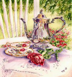 A lovely table set for tea.