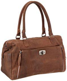 Adax maanii BAG Shoulder Bag Womens Brown Braun (Cognac 03) Size: 41x30x17 cm (B x H x T)
