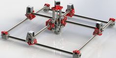 "Melvin CNC - Parts are mainly 3D printed with 1/2"" pipe for rails.  Imperial and Metric plans are available for free"