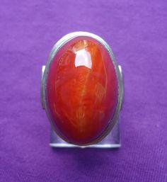 Cincin Batu Akik Pandan Merah