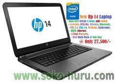New hp 14 laptop dual core 2.16ghz 4gb 500gb.  #sokohuru