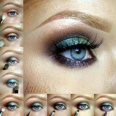 Sleek Garden of Eden eye tutorial @kitulec