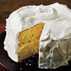 Vanilla Cake with Italian Meringue Frosting | CookingLight.com