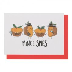 Mince spies Christmas card