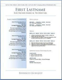 Resume Templates Libreoffice Simple Underline Resume Template  Resume Templates And Samples