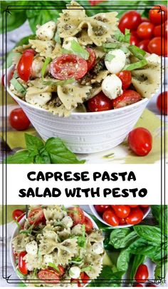 4 Ingredient Easy Caprese Pasta Salad with Pesto recipe - the best healthy, cold tomato mozzarella salad! A simple summer meals or lunch ideas. Perfect for a crowd or potlucks. / Running in a Skirt pasta salad 4 Ingredient Caprese Pesto Salad Tomato Mozzarella Salad, Pesto Salad, Healthy Pasta Salad, Healthy Pastas, Pasta Salad Recipes Cold, Vegetarian Pasta Salad, Simple Pasta Salad, Recipes With Pesto, Summer Healthy Meals