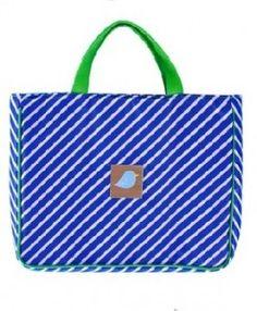 Navy Strip Tote Library Bag $33.95 www.sweetcreations.com.au #sweetcreations #baby #toddlers #kids #school
