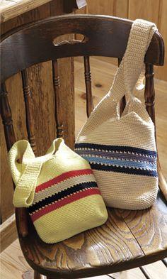 Crochet bag - free diagram pattern (Japanese)