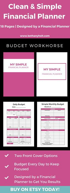 Budgeting Planner, A5 Planner, Finance Tracking, Simple Budget - simple budget