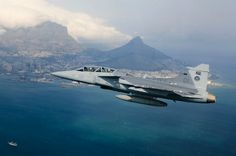 South African Air Force Saab Gripen fighter.