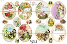 This printable download includes 2 sheets of 18 beautiful vintage style Easter Eggs you can print single or double sided with a decorative back. Description from craftyvintagegirl.com. I searched for this on bing.com/images