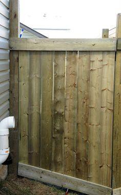 Cedar Fence With Hidden Gate Diy Pinterest Cedar