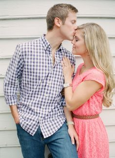 forehead kisses are the sweetest! Beautiful photo by Michael and Carina Photography