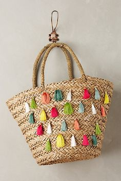 Nimmes Straw Tote #anthropologie