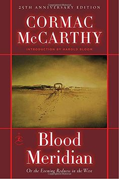 Cormac McCarthy is very strong medicine. His work comes with a warning label, really...But no one I have ever read has merged the lyric with the violent so uniquely, to make such a dark, unforgettable magic. BLOOD MERIDIAN, utterly harrowing in its images of the Old West in America, is the Great Book of his. It is one of the best novels I know. ~GGK
