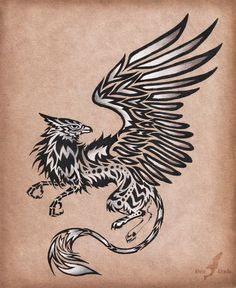 Silver gryphon - tattoo design by AlviaAlcedo.deviantart.com on @deviantART